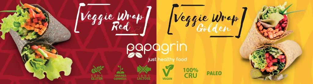Wraps Vegan, Crus et avec des graines germées