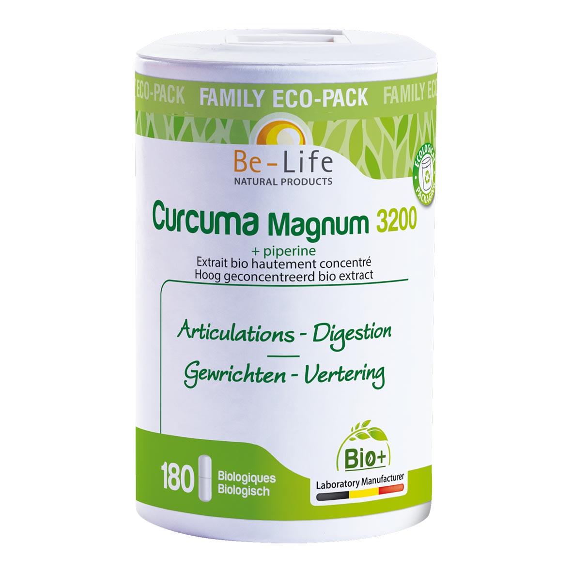 Curcuma Magnum 3200 + piperine Bio 180 gél.