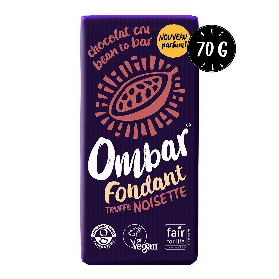 Chocolat CRU Fondant Truffé Noisette 70g